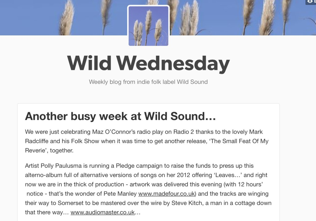 Follow WS blog 'Wild Wednesday' on Tumblr!