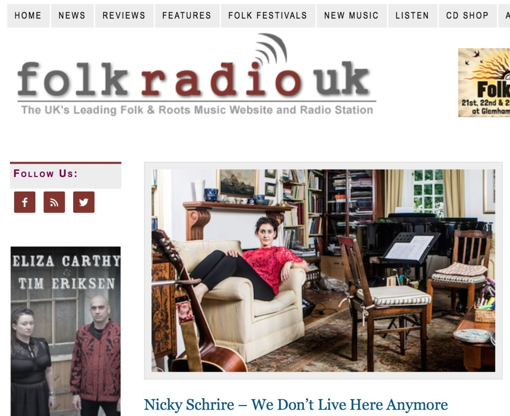 Nicky Schrire video premieres today at Folk Radio UK