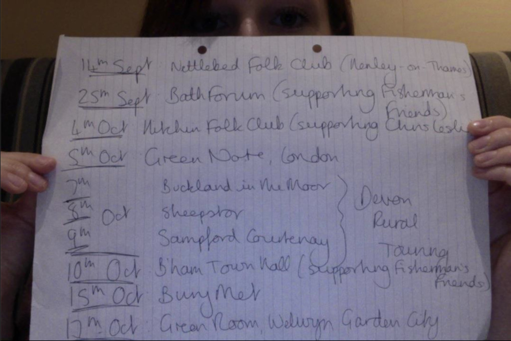 Maz O'Connor autumn tour dates