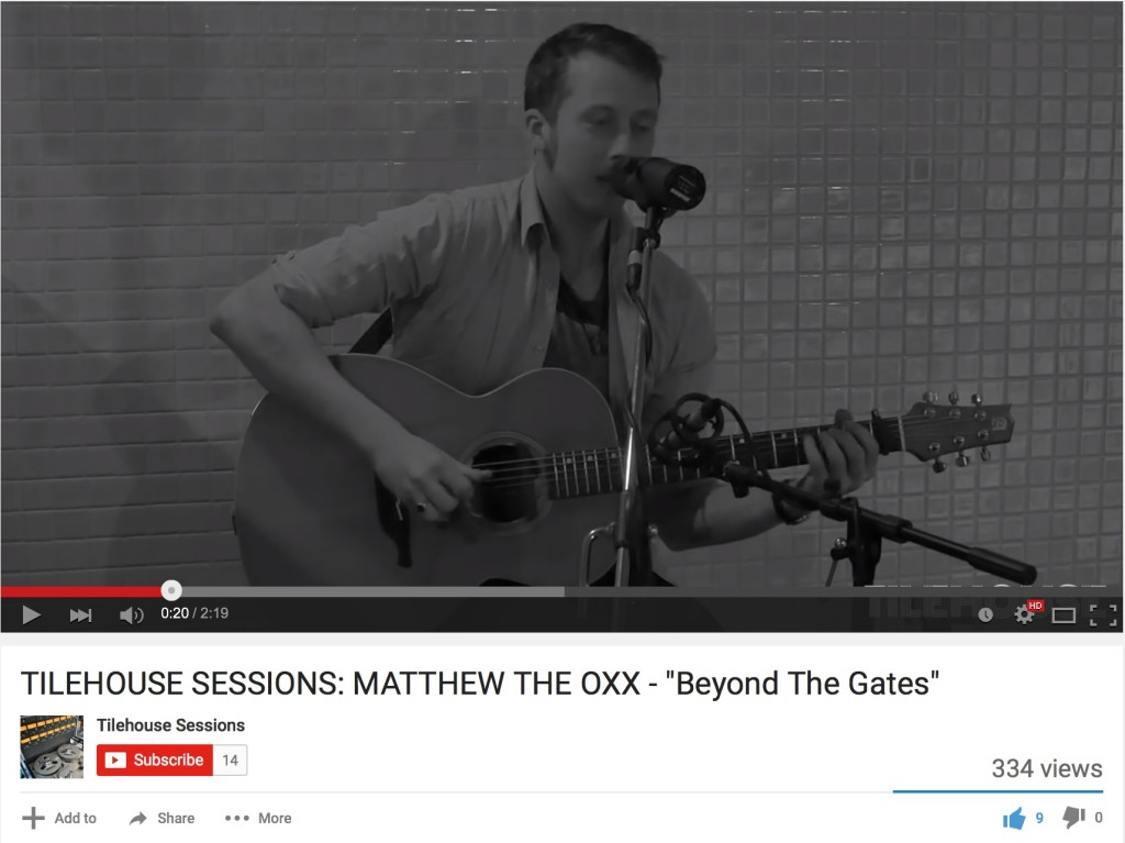 Matthew The Oxx on tour ahead of video release